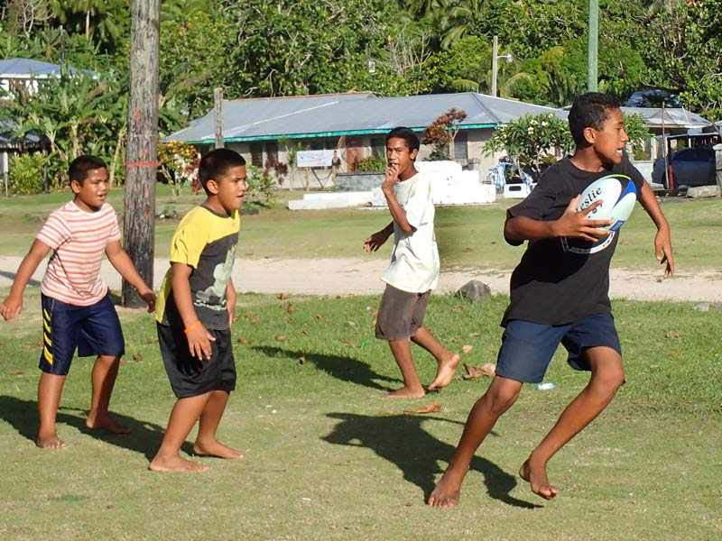 Kids Get A Kick Out Of Crest Rugby Balls Crestclean