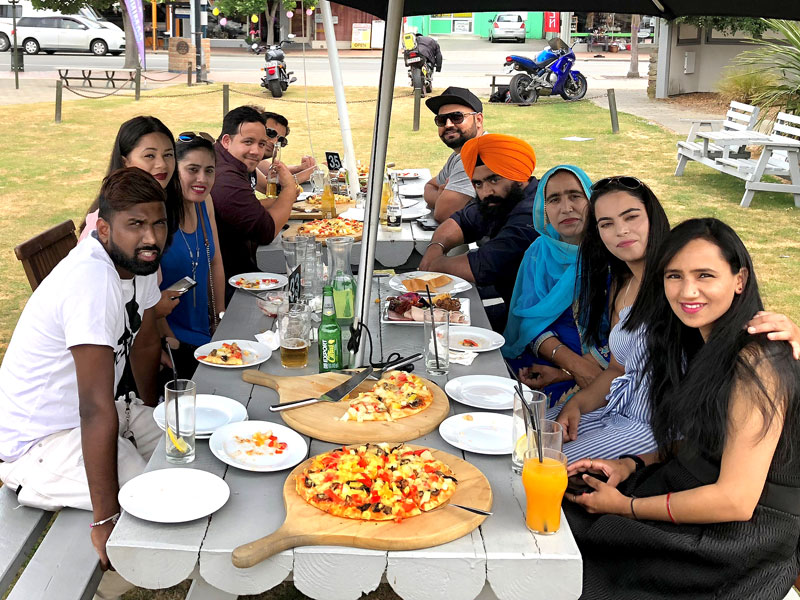 Pizza was on the menu at the annual Christmas gathering of CrestClean's South Canterbury business owners.