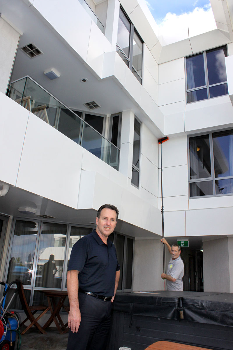 Shane Kennedy is delighted with the exterior cleaning by CrestClean.