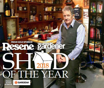 Glenn Cockroft in his award-winning Invercargill shed. Photo: ROBYN EDIE/STUFF