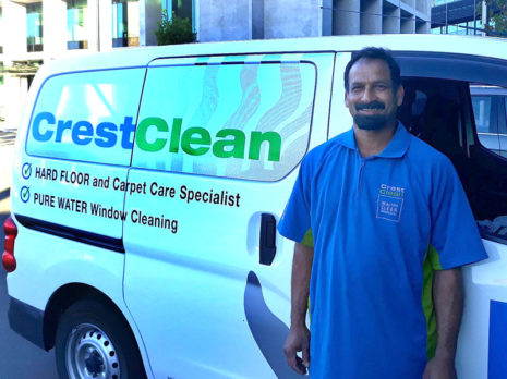 Anthony Mudaliar is pleased with the Nissan NV200 he's bought for his CrestClean business.