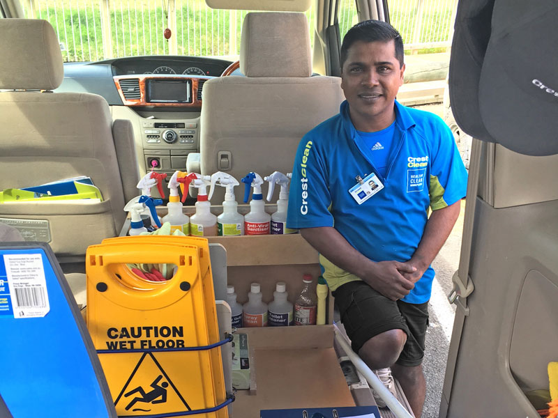 Ahimad Nur, who runs a $100,000 CrestClean business, overcame a major setback when he arrived in Napier to create a new life for his family and ended up sleeping rough in the city.