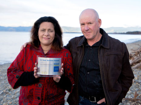 Barbara and Shane de Vries have just marked 10 years' service with CrestClean.