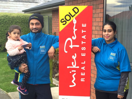 Billy Singh and Sonia Kaur with their daughter Amaira. The couple have just bought their first home.
