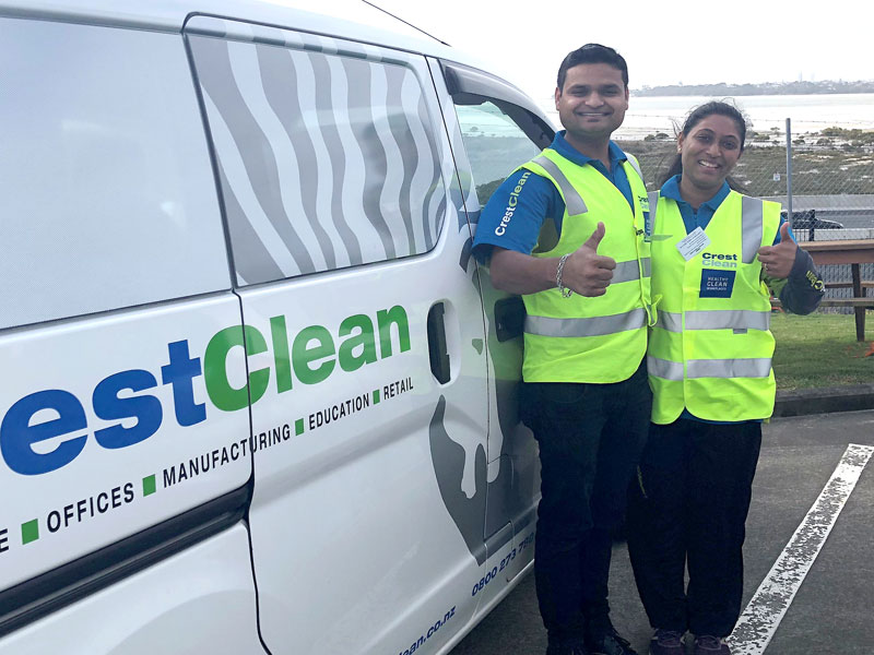 Dhaval Amin and Aakanksha Patel have just joined CrestClean and been praised for their commitment.