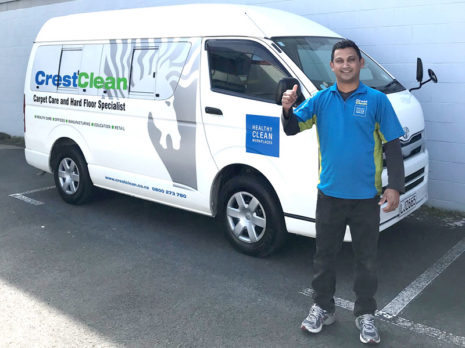 Praneel Prasad is delighted with his Toyota Hiace Jumbo. It means he can carry all his specialist cleaning equipment in one vehicle.