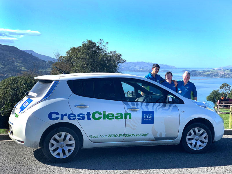 Since Steve bought his Leaf, other CrestClean business owners have also purchased electric vehicles.