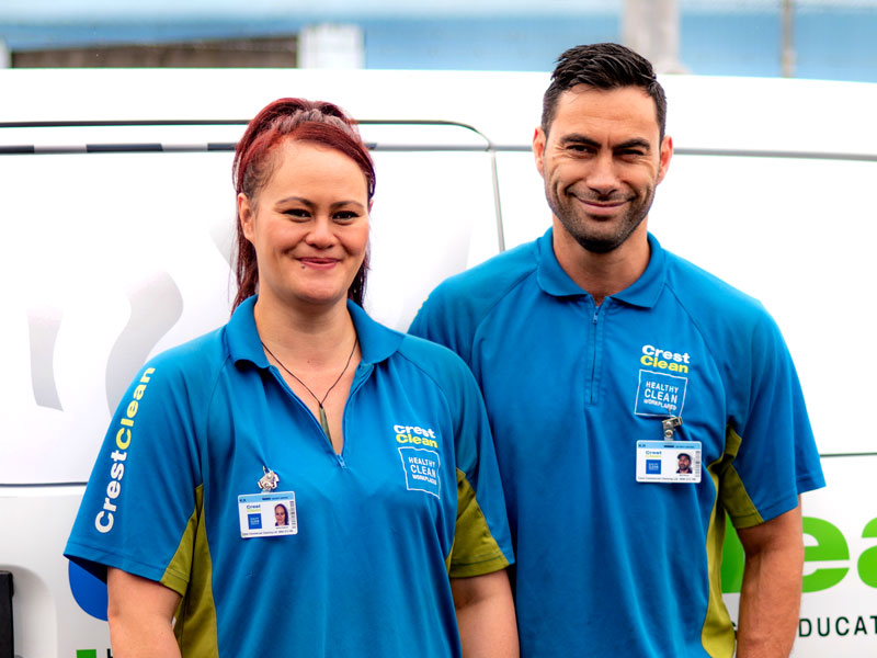 Amiria and Matt Brown have more than doubled the size of their cleaning business.