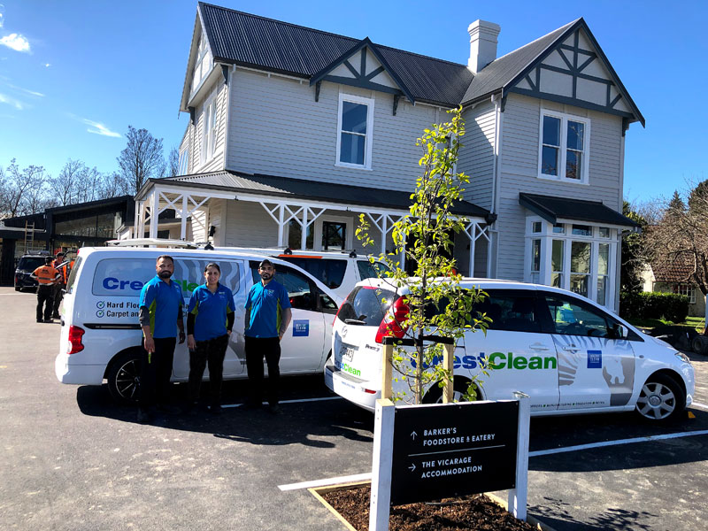 A CrestClean team faced a race against the clock to ensure a landmark New Zealand company's new extension was spotless for the building's handover